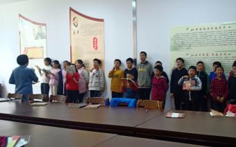 诸城市图书馆尼山书院 儿童国学班(启德班)第34期开课了